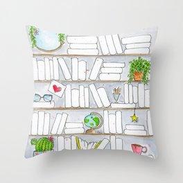 Signature Reads Bookshelf Throw Pillow