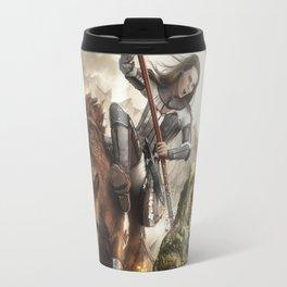 Saint Georgine and the Dragon Travel Mug