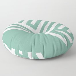 Mint Maze Floor Pillow
