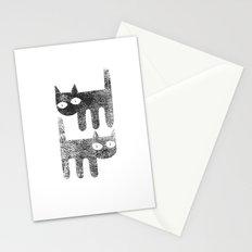 Three legged cats Stationery Cards