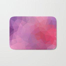 """Wild berries smoothie"" geometric design Bath Mat"