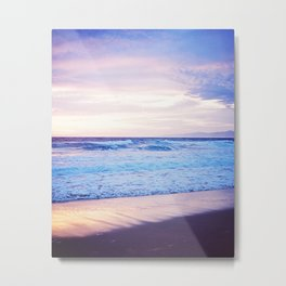 Purple Sunset over Hermosa Beach, Los Angeles  Metal Print