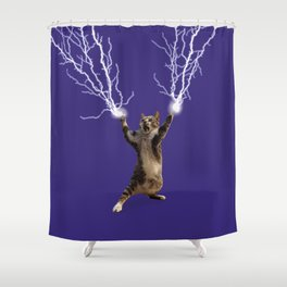 Lightning Cat Shower Curtain