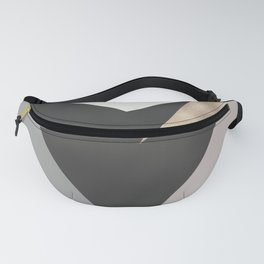 Abstract geometrical faux gold black gray triangles pattern Fanny Pack