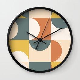 Mid Century Modern Geometric 23 Wall Clock