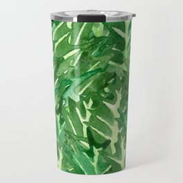 Holly Jolly Leaves (Large Pattern) Travel Mug