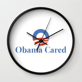 Obama Cared Wall Clock