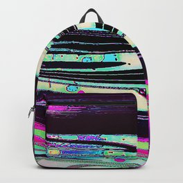 Lines and spots of color abstract digital painting Backpack