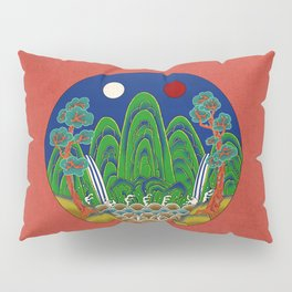 Minhwa: Sun, Moon and 5 Mountains: King's painting A_1 Type  Pillow Sham