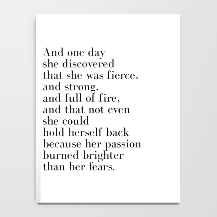 And one day she discovered that she was fierce Notebook