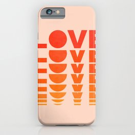 Abstraction_LOVE_SUNSET_Minimalism_001 iPhone Case