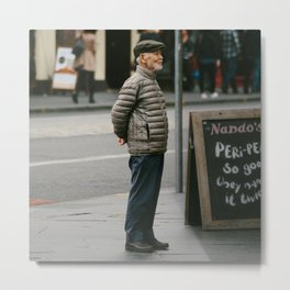 Old Man in Edinburgh Metal Print