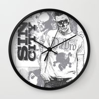 sin city Wall Clocks featuring Sin city by Tshirt-Factory
