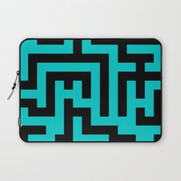 Black and Cyan Labyrinth Laptop Sleeve