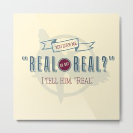 Read or Not Real Metal Print
