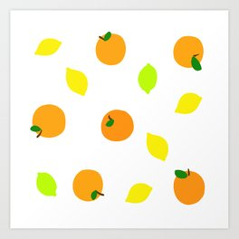 Citrus with Yellow, Orange and Green Oranges, Lemons and Limes Art Print