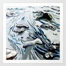 Low Tide Cool Art Print