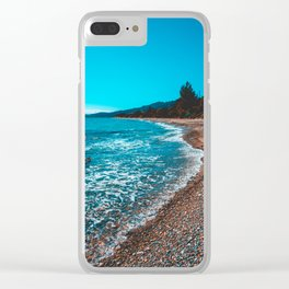 Stony bay at greece Clear iPhone Case