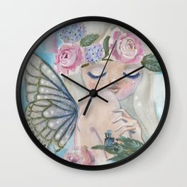 Aurora Blue Pixie Wall Clock