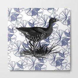 Rallina Canningi delle Andamane _ BL//B Metal Print