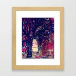Support pink Framed Art Print