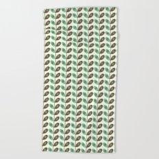 Simply Leaves & Flowers Green & Brown Beach Towel
