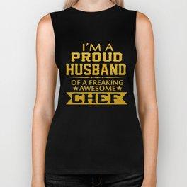 I'M A PROUD CHEF'S HUSBAND Biker Tank