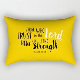 Isaiah 40:30 Rectangular Pillow