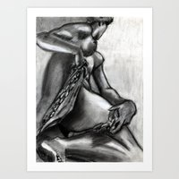 Bad Ass Ladies of Florence: Marble Chains Art Print