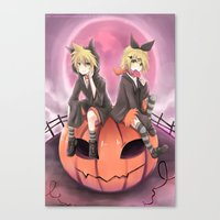 vocaloid Canvas Prints featuring vocaloid black cats by Sunny