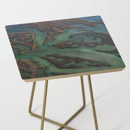 Intracoastal Waterway Marsh Maze Side Table