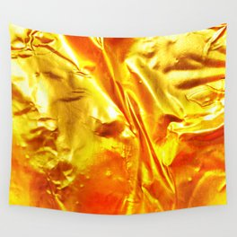 Golden Fabric Wall Tapestry