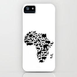Animals of Africa iPhone Case