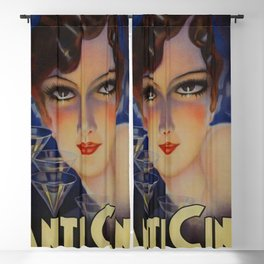 Spectacular Vintage 1933 Cinzano Advertisement by Plinio Codognato Blackout Curtain