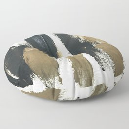 Obsessions in Black Floor Pillow