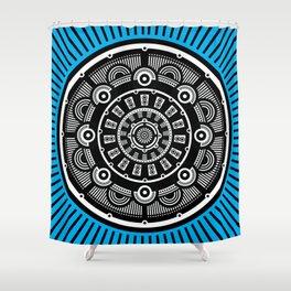 Modern Mandala (Blue) Shower Curtain