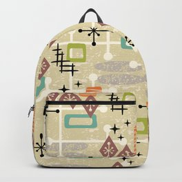 Retro Mid Century Modern Atomic Abstract Pattern 241 Backpack