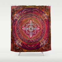 chakra Shower Curtains featuring Root Chakra by brenda erickson