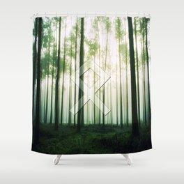 Othala (rune, means Home.) Shower Curtain