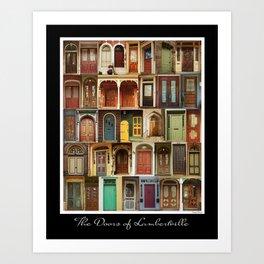 Doors of Lambertville Art Print
