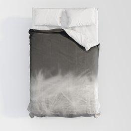 Dandelion Blowball Closeup Black and White #decor #society6 #buyart Comforters