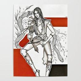lusung blade and soul korean boy snake Poster