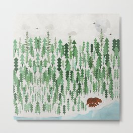 the green forest Metal Print
