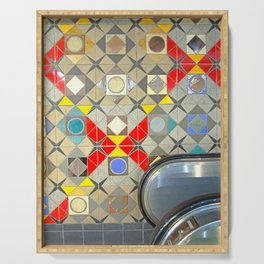Detroit People Mover Art Broadway Fort and Cass Serving Tray