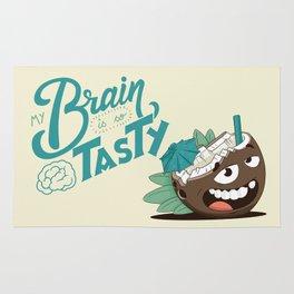 My brain is so tasty Rug