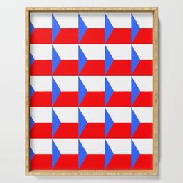 flag of Czech 3 -Czechia,Česko,Bohemia,Moravia, Silesia,Prague. Serving Tray