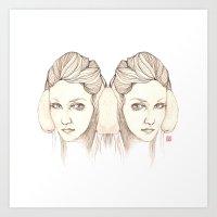 Listen 2 Cold Music Art Print