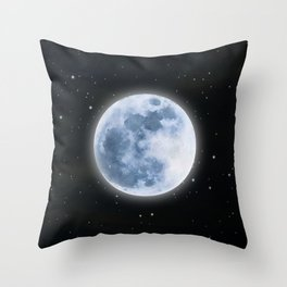 Full Moon: Water Element Throw Pillow