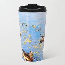Ducks on a Pond Travel Mug