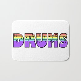 Pastel Drums Bath Mat